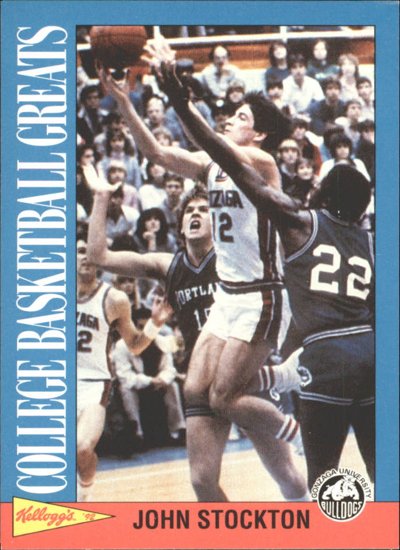 1991-92 Kellogg's College Greats #8 John Stockton