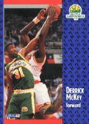 1991-92 Fleer Tony's Pizza #11 Derrick McKey