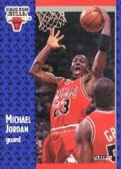 1991-92 Fleer Tony's Pizza #33 Michael Jordan