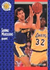 1991-92 Fleer Tony's Pizza #35 Sarunas Marciulionis