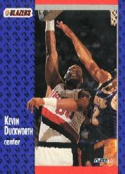 1991-92 Fleer Tony's Pizza #88 Kevin Duckworth