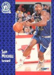 1991-92 Fleer Tony's Pizza #117 Sam Mitchell