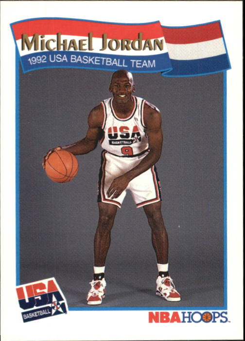 1991-92 Hoops McDonald's #55 Michael Jordan USA