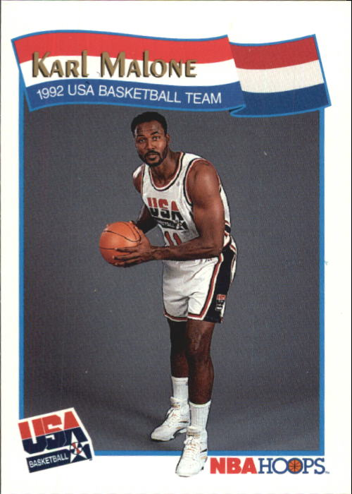 1991-92 Hoops McDonald's #56 Karl Malone USA
