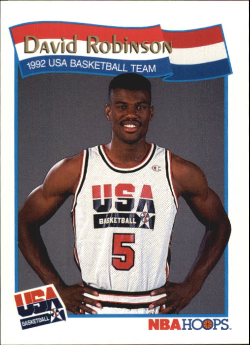 1991-92 Hoops McDonald's #59 David Robinson USA