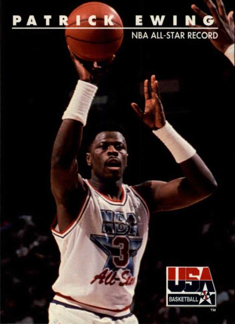 1992 SkyBox USA #25 Patrick Ewing/NBA All-Star Record