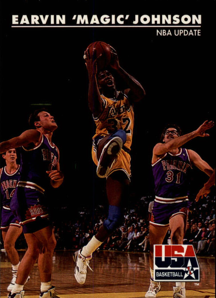 1992 SkyBox USA #28 Magic Johnson/NBA Update