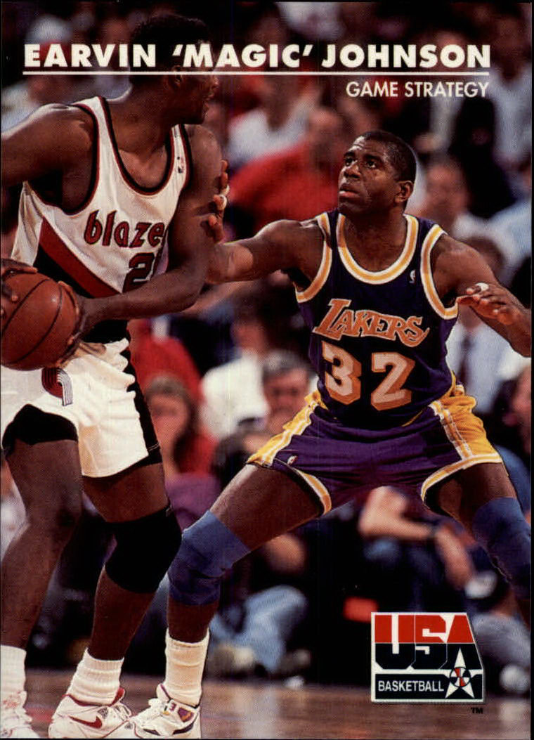 1992 SkyBox USA #30 Magic Johnson/Game Strategy