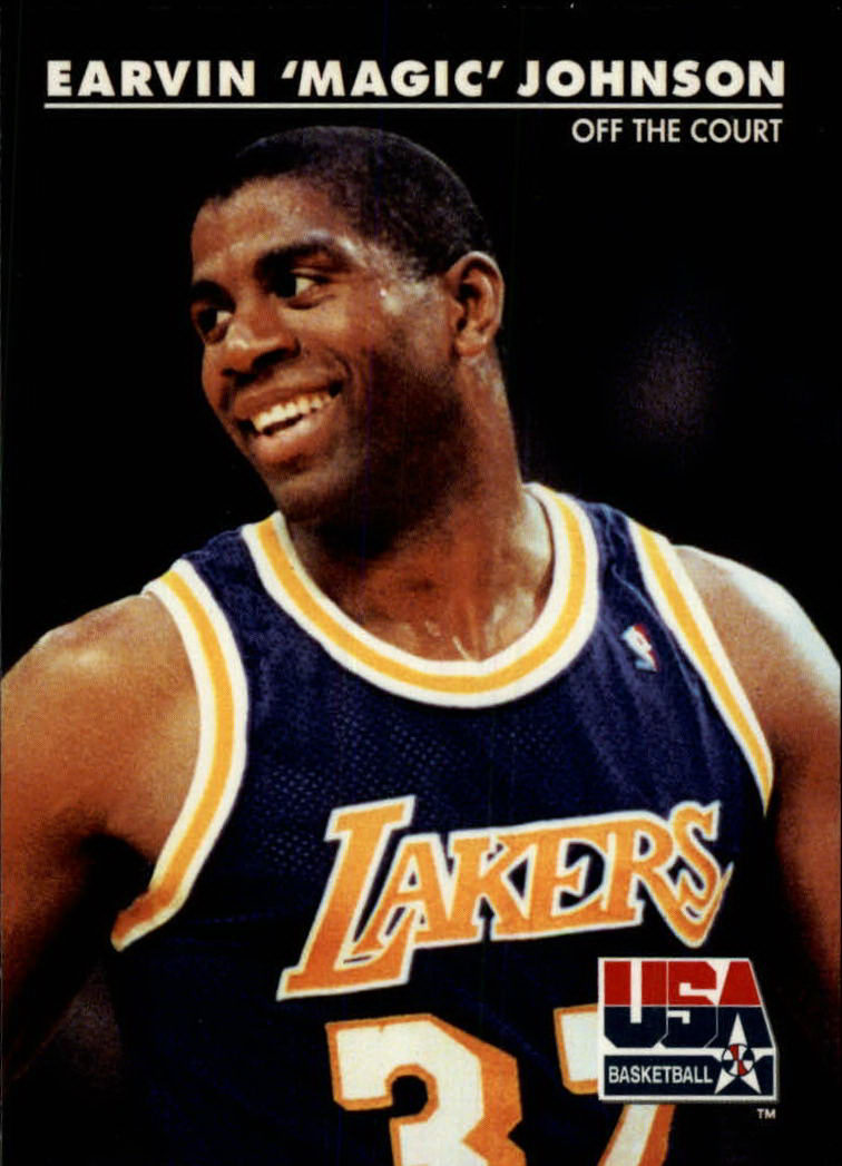 1992 SkyBox USA #32 Magic Johnson/Off the Court