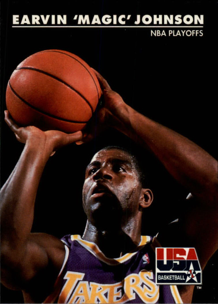 1992 SkyBox USA #33 Magic Johnson/NBA Playoffs