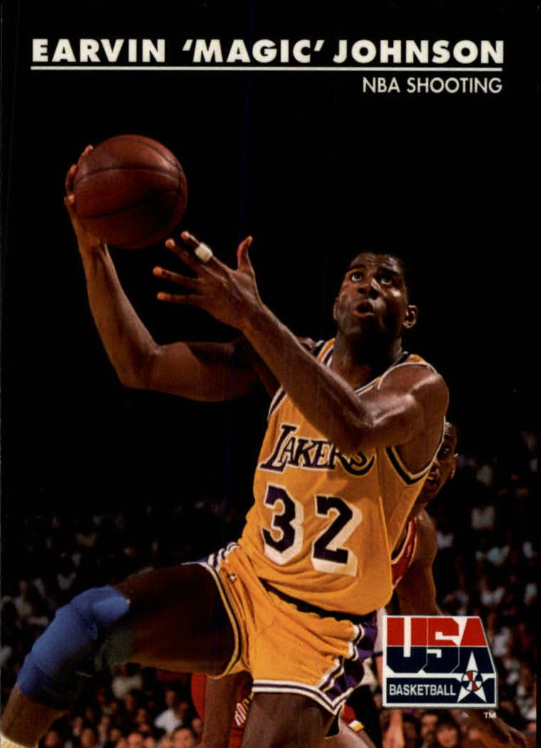 1992 SkyBox USA #35 Magic Johnson/NBA Shooting