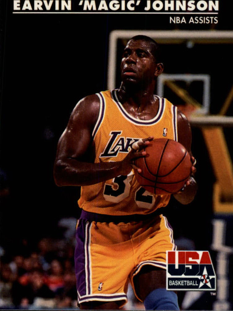 1992 SkyBox USA #36 Magic Johnson/NBA Assists