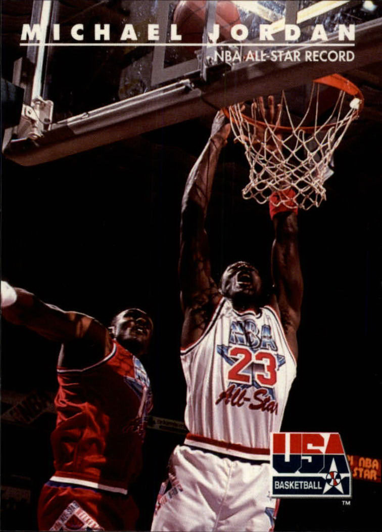 1992 SkyBox USA #43 Michael Jordan/NBA All-Star Record