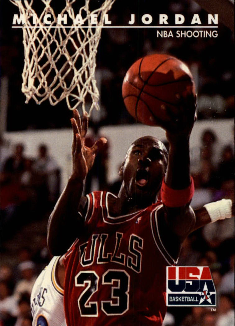 1992 SkyBox USA #44 Michael Jordan/NBA Shooting