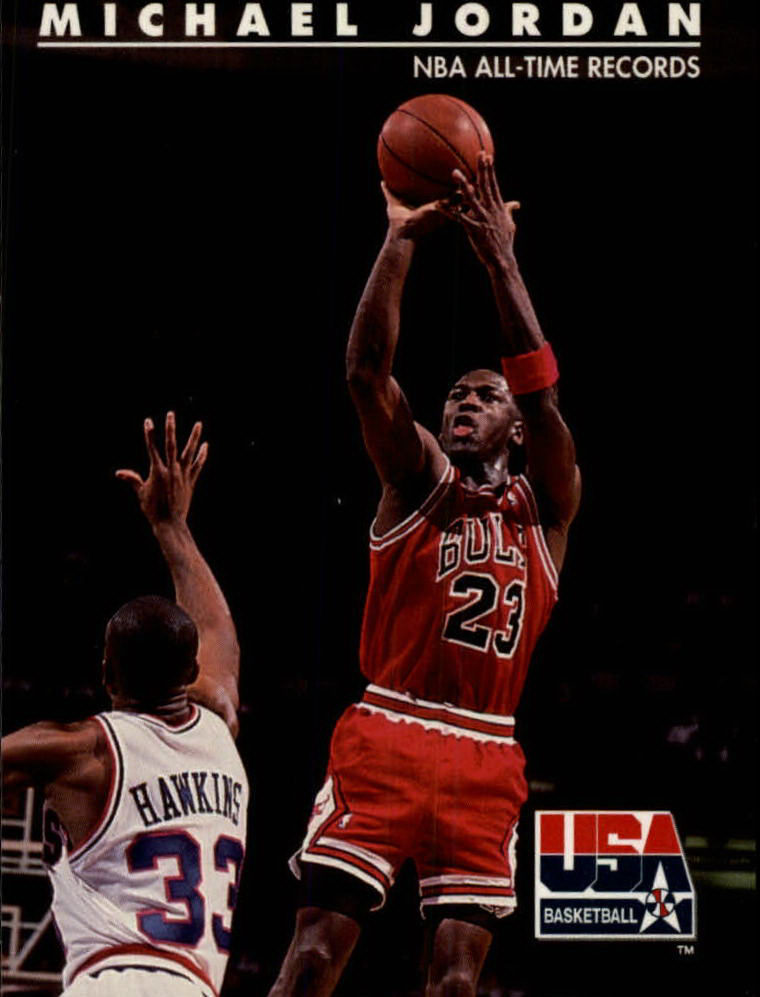 1992 SkyBox USA #45 Michael Jordan/NBA All-Time Records