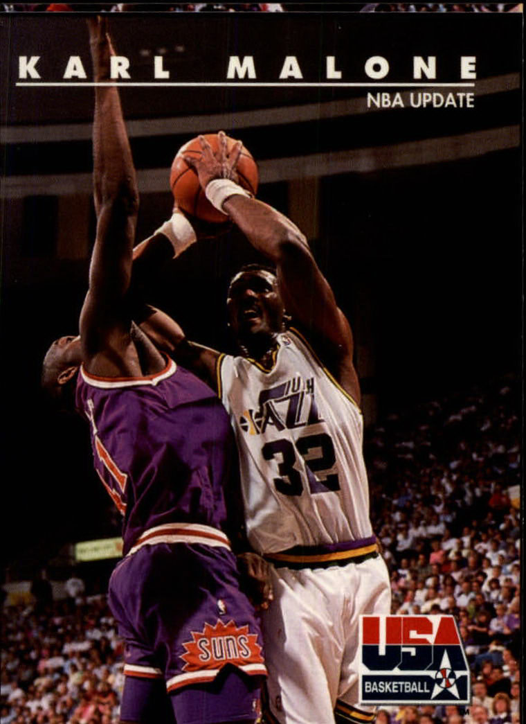 1992 SkyBox USA #46 Karl Malone/NBA Update