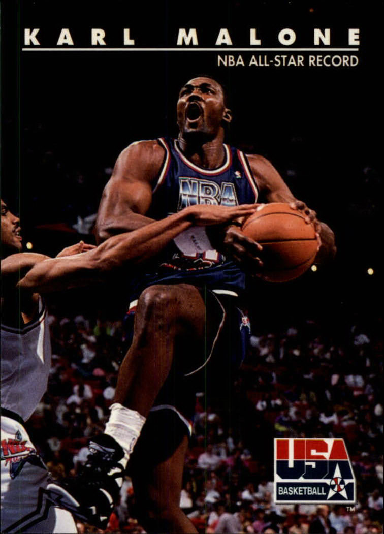 1992 SkyBox USA #52 Karl Malone/NBA All-Star Record