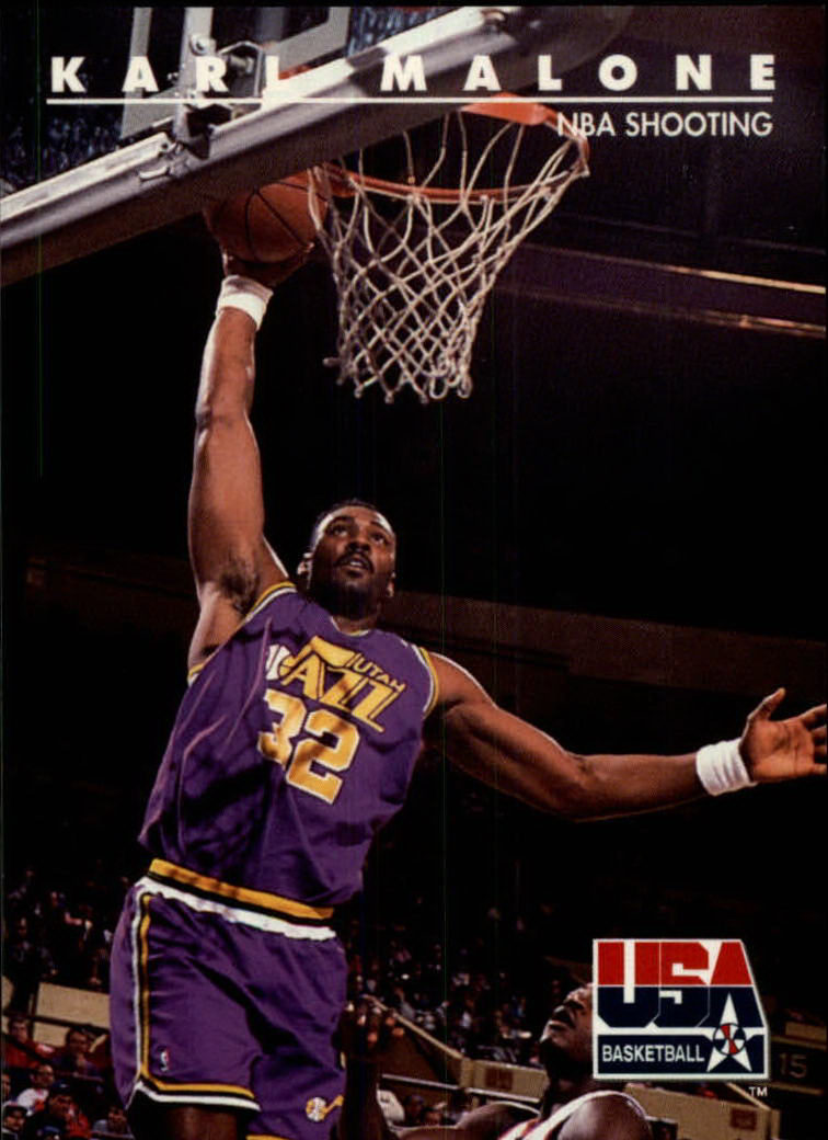 1992 SkyBox USA #53 Karl Malone/NBA Shooting