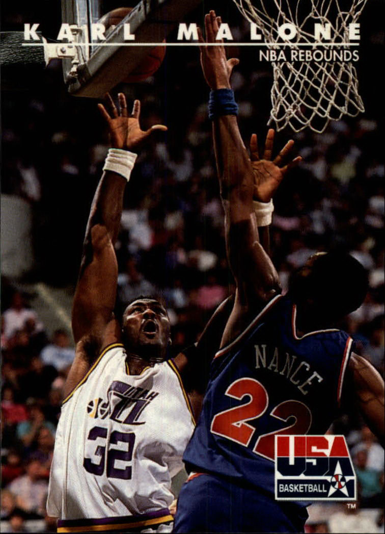 1992 SkyBox USA #54 Karl Malone/NBA Rebounds