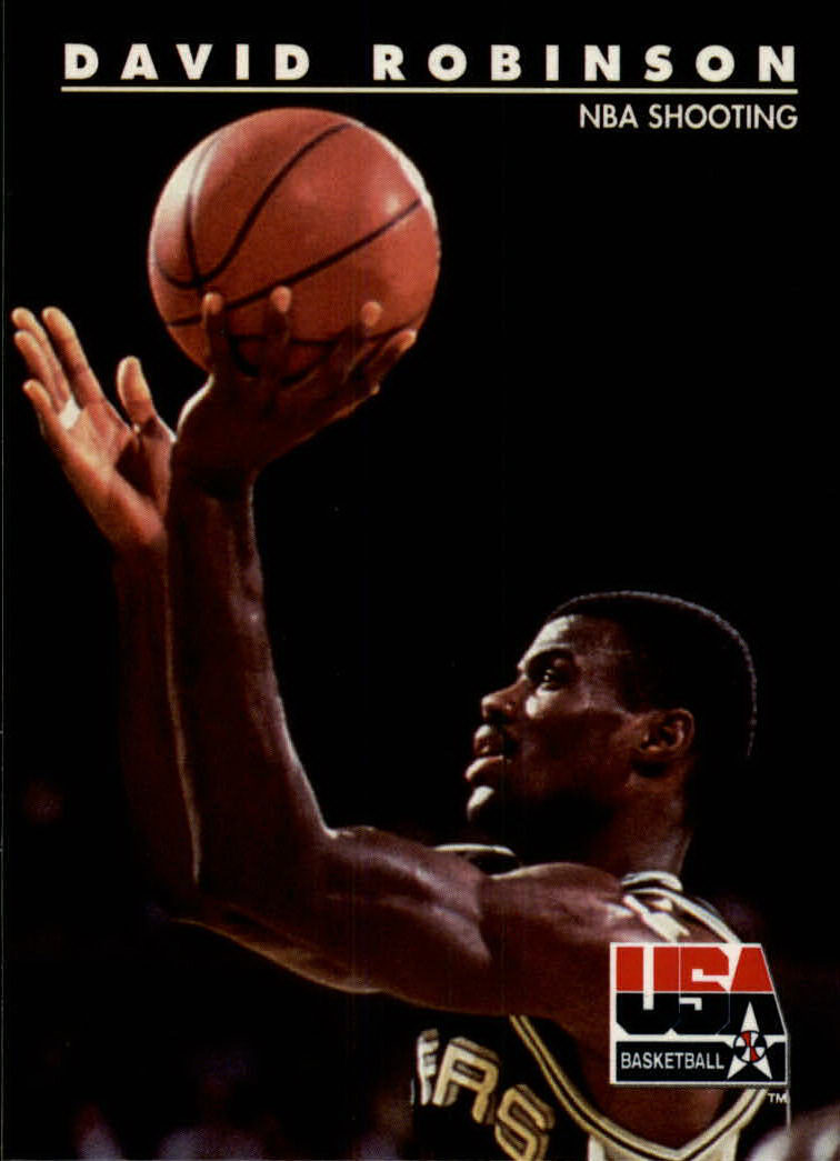 1992 SkyBox USA #80 David Robinson/NBA Shooting