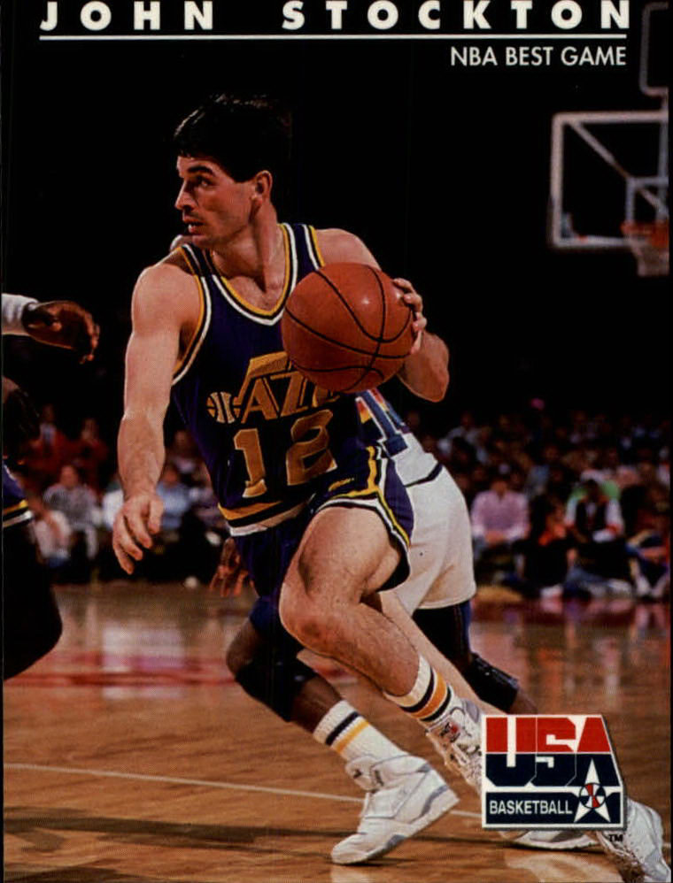 1992 SkyBox USA #85 John Stockton/NBA Best Game