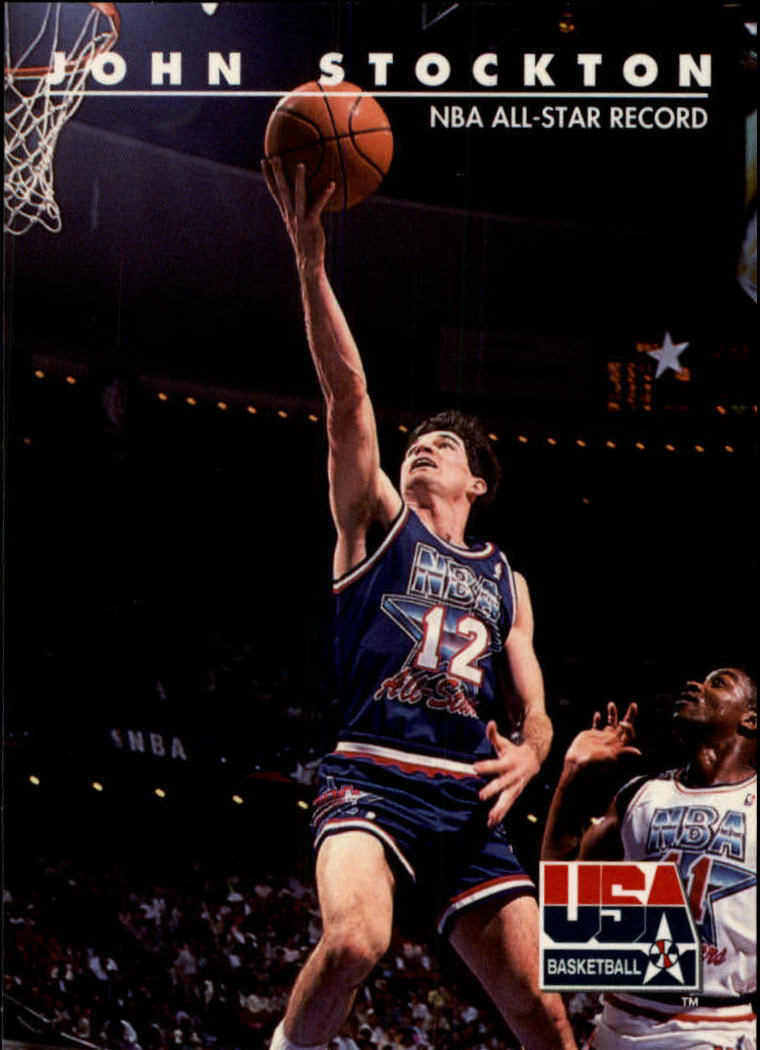 1992 SkyBox USA #88 John Stockton/NBA All-Star Record