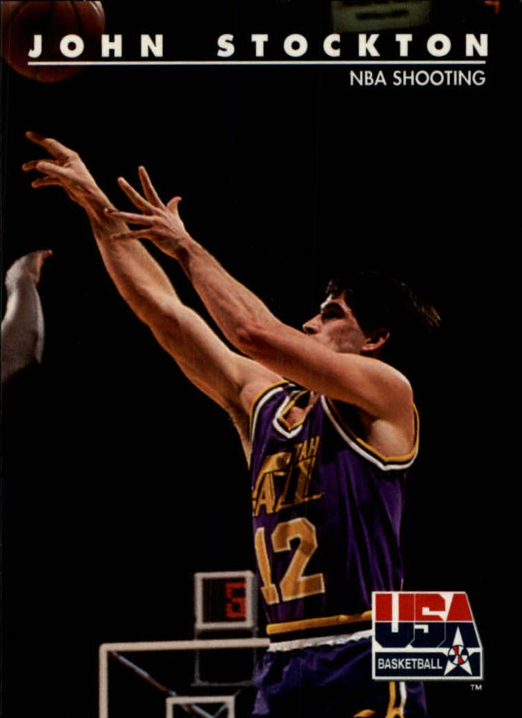1992 SkyBox USA #89 John Stockton/NBA Shooting