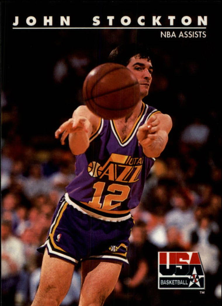 1992 SkyBox USA #90 John Stockton/NBA Assists