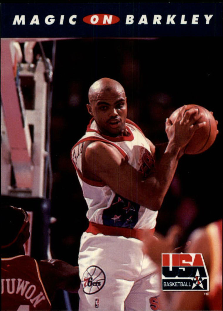 1992 SkyBox USA #101 Magic on Barkley