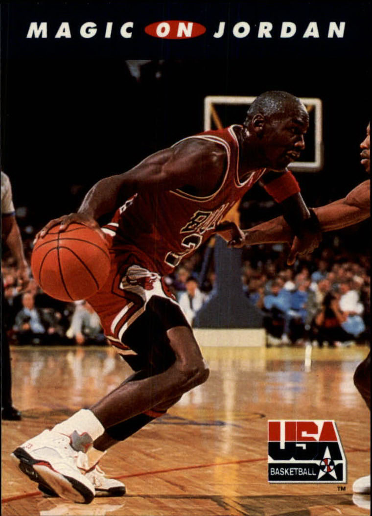 1992 SkyBox USA #105 Magic on Jordan