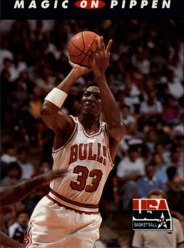 1992 SkyBox USA #108 Magic on Pippen
