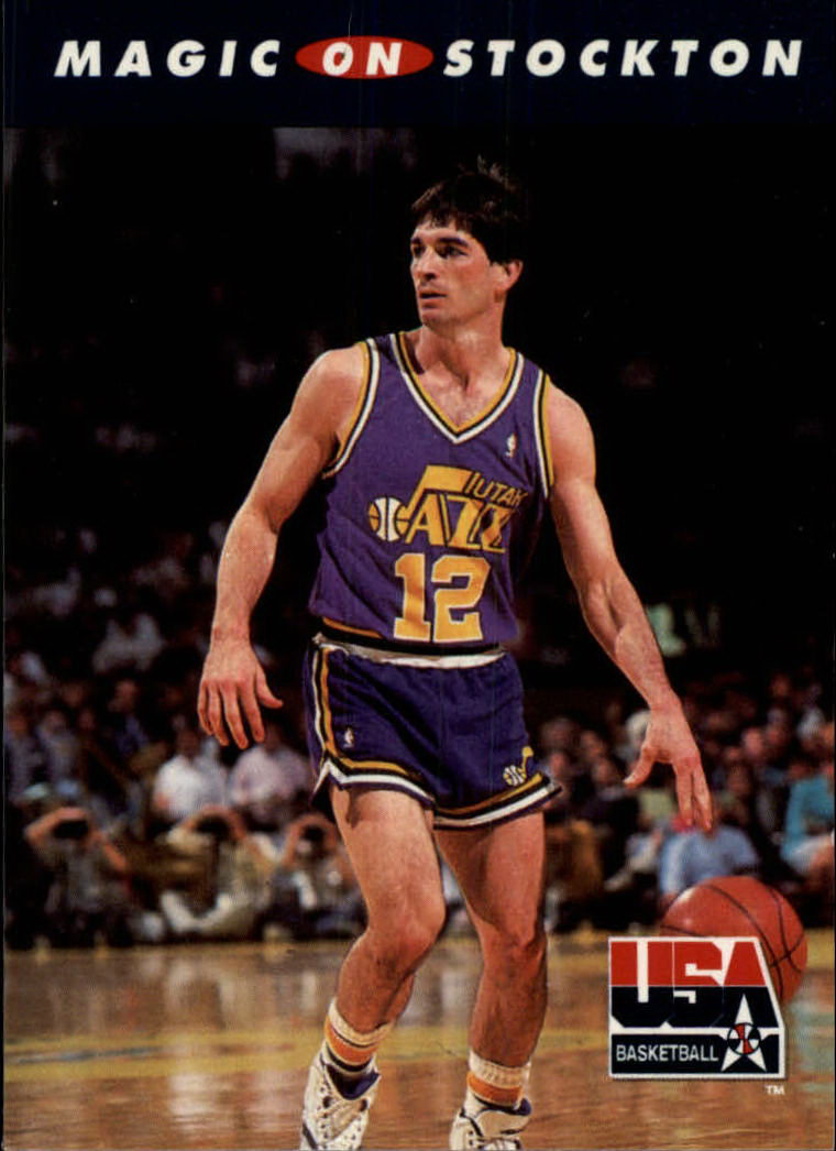 1992 SkyBox USA #110 Magic on Stockton