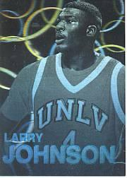 1992 Front Row Holograms #1 Larry Johnson
