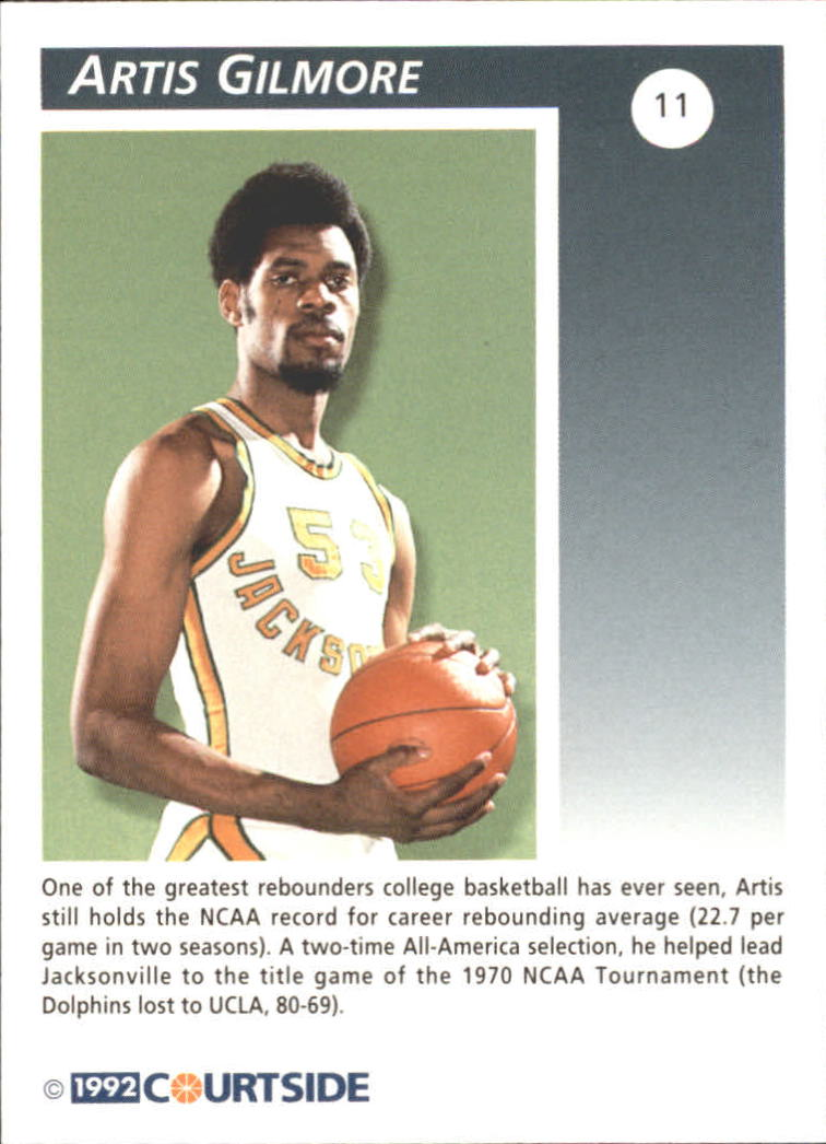1992 Courtside Flashback #11 Artis Gilmore back image