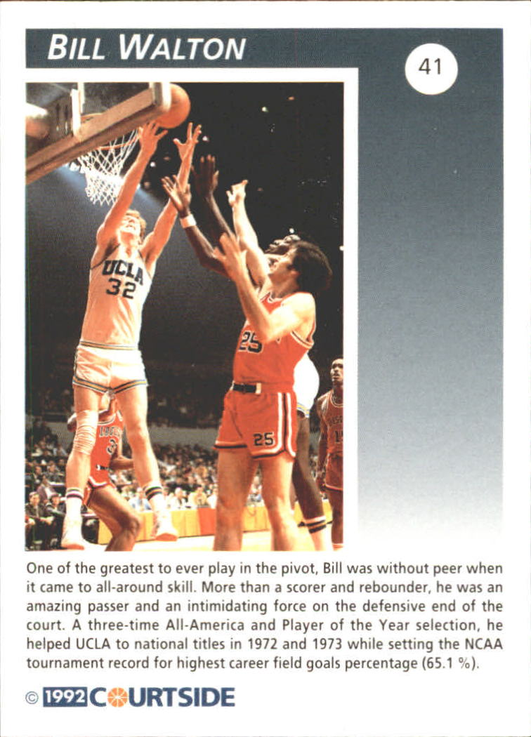 1992 Courtside Flashback #41 Bill Walton back image