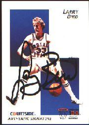 1992 Courtside Flashback Autographs #4 Larry Bird
