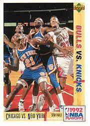 1991-92 Upper Deck International Italian #166 New York Knicks/Scottie Pippen/Michael Jordan PO