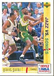 1991-92 Upper Deck International Italian #169 Shawn Kemp/Karl Malone PO