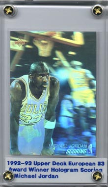1991-92 Upper Deck International Award Winner Holograms #3 Michael Jordan Scoring