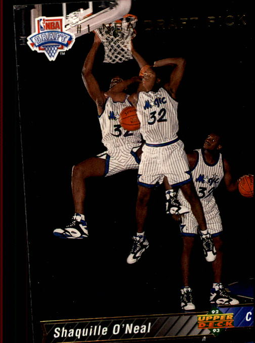 1992-93 Upper Deck #1 Shaquille O'Neal SP RC/NBA First Draft Pick