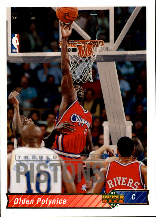 1992-93 Upper Deck #29 Olden Polynice