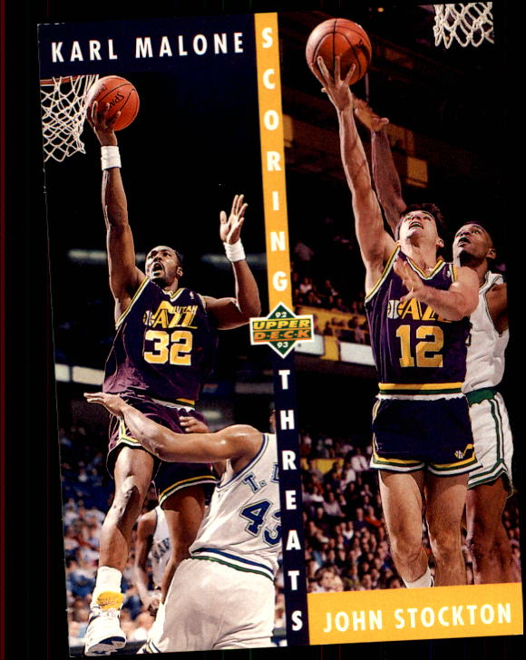1992-93 Upper Deck #66 K.Malone/J.Stockton ST