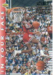 1992-93 Upper Deck #453B Michael Jordan/FACE COR (Slam Dunk Champ/in 1987 and 1988)