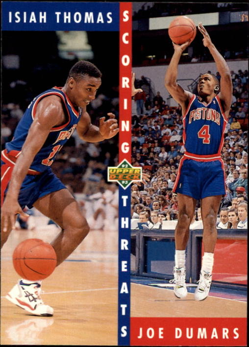 1992-93 Upper Deck #500 Isiah Thomas ST/Joe Dumars