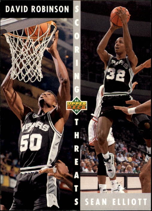 1992-93 Upper Deck #505 David Robinson ST/Sean Elliott