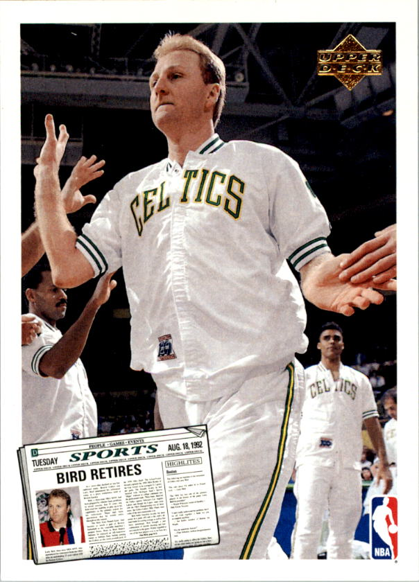 1992-93 Upper Deck #SP1 Larry Bird/Magic Johnson Retirement