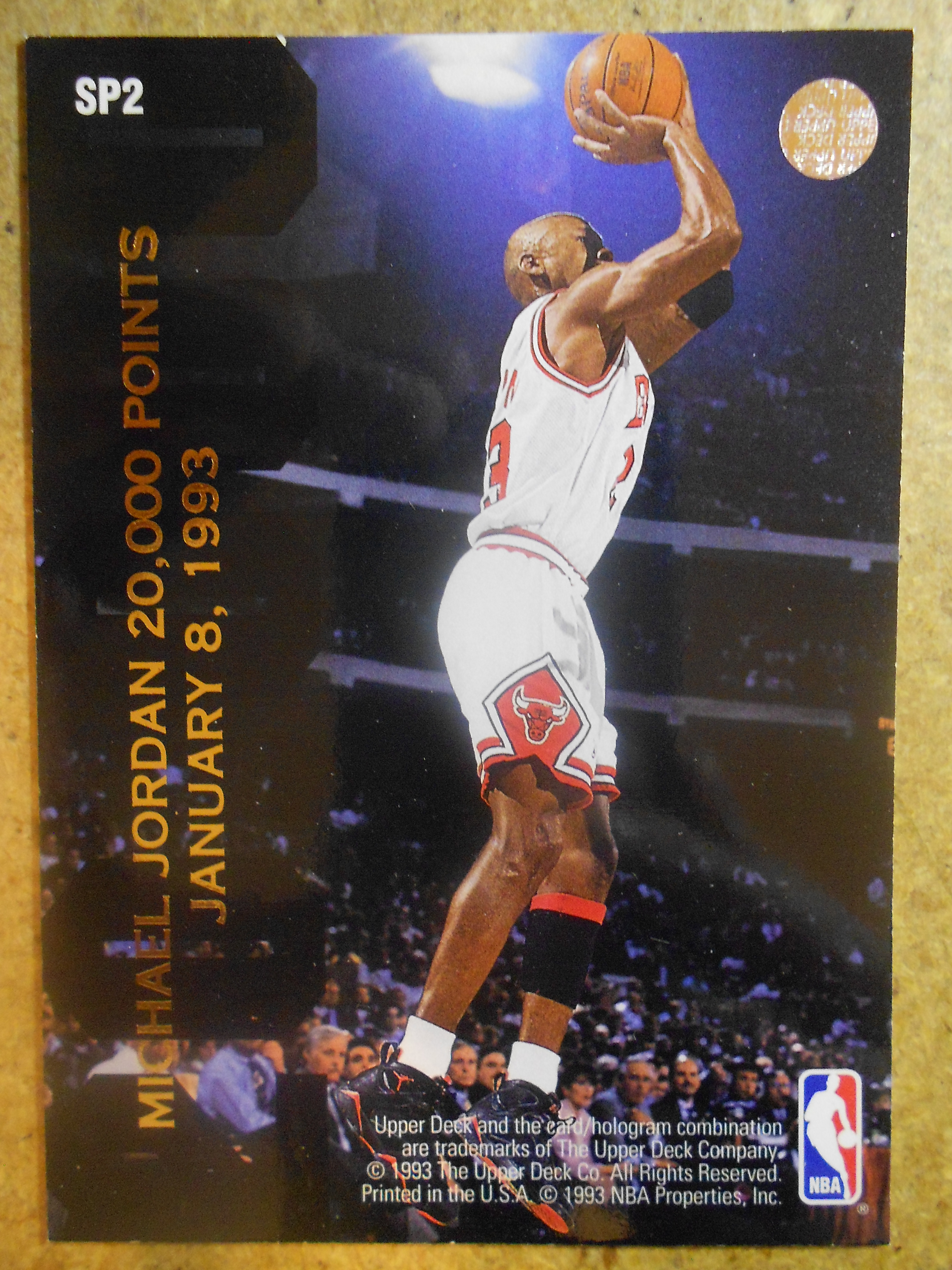 1992-93 Upper Deck #SP2 20,000 Points/Dominique Wilkins Nov. 6, 1992/Michael Jordan Jan. 8, 1993