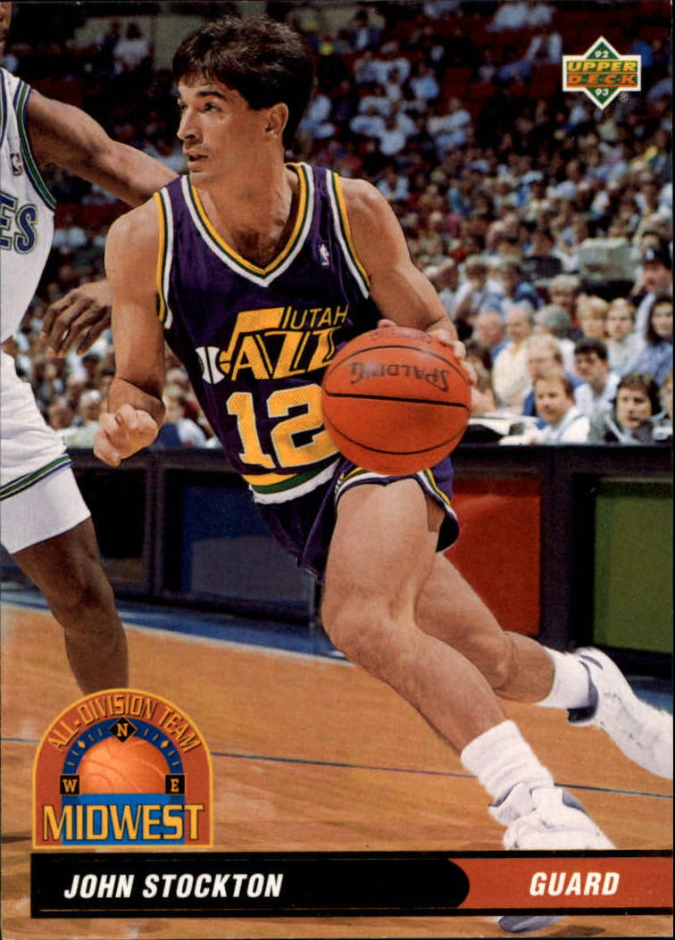 1992-93 Upper Deck All-Division #AD14 John Stockton