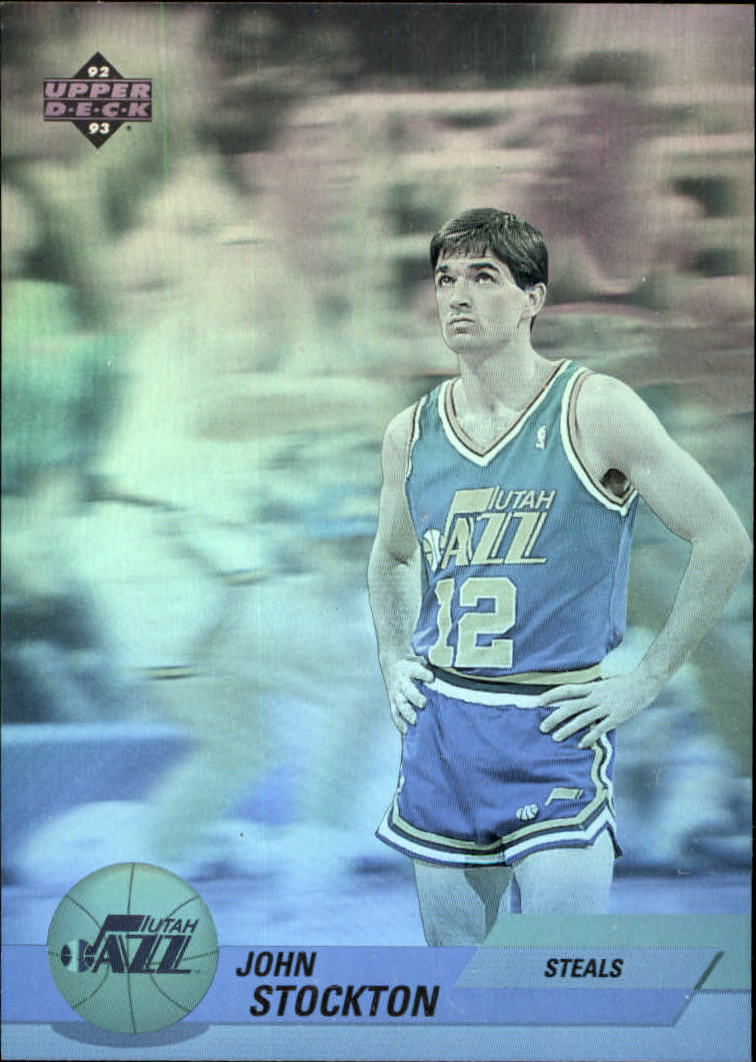 1992-93 Upper Deck Award Winner Holograms #AW2 John Stockton/Steals