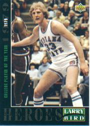 1992-93 Upper Deck Larry Bird Heroes #19 Larry Bird/1979 College Player of the Year